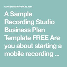 The original capitol records studios recording studios if yes here is a complete sample music recording studio business plan template feasibility study wajeb Gallery