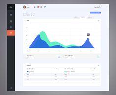Flat Dashboard User Interface Design #UI