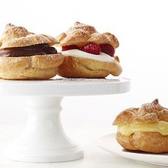 Cream Puffs Recipe   MyRecipes.com This classic recipe for cream puffs is made with choux pastry and bakes up into airy, tender puffs.