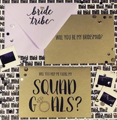 Squad Goals-Will You Be My Bridesmaid Card. Blush, Lavender, and Gold.