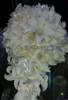 awesome bridal bouquet, shining through bad photo lighting fbcdn-sphotos-f-a. - awesome bridal bouquet, shining through bad photo lighting fbcdn-sphotos-f-a… awesome bridal bouquet, shining through bad photo lighting fbcdn-sphotos-f-a… Wedding Brooch Bouquets, Diy Bouquet, Bride Bouquets, Boquet, Bouquet Flowers, Bling Wedding, Floral Wedding, Dream Wedding, Wedding Dresses With Bling