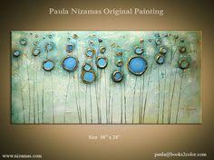 Original Abstract Modern Contemporary Painting Gold par Artcoast