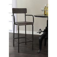 Give your dining area a stylish update with the Assunta 24-inch Counter Stool. This stool features an attractive contemporary design that is sure to look great in your home.