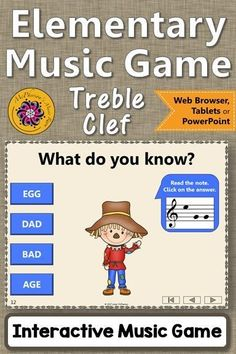 Reading notes on the Treble Clef staff is so easy for your elementary music students with this fun interactive music game! Perfect for whole group or music centers! Music Games, Music Mix, 6 Music, Piano Music, Music Stuff, Music Classroom, Music Teachers, Music Education Activities, Elementary Music Lessons