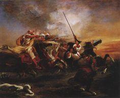 Eugene Delacroix - Arab Cavalary (1832)