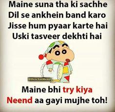 Matlab sacha pyaar nind h. Ankh band Karo or shanti se so jao. Cute Jokes, Funny Picture Jokes, Funny Jokes In Hindi, Funny Qoutes, Jokes Quotes, Funny Memes, Wale Quotes, Year Quotes, Hilarious