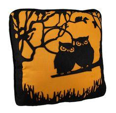 Bethany Lowe HOOT Halloween Owls Throw Pillow $29.99