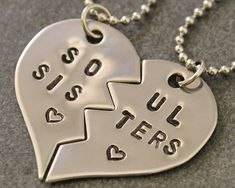 Hand Stamped Bitches for Life Necklaces - BFF Split Heart Jewelry, Best Bitches Jewelry - Best Friend Necklaces - Stainless Steel Schweizer Schweizer Pomplon Bff Necklaces, Best Friend Necklaces, Best Friend Jewelry, Bestfriend Necklaces For 2, Friend Rings, Bff Gifts, Best Friend Gifts, Gifts For Friends, Heart Jewelry