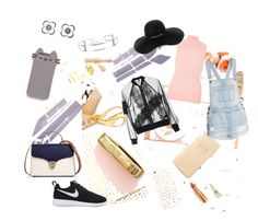"""""""Dancing Trash"""" by jcbcreativeartist ❤ liked on Polyvore featuring Aspinal of London, NIKE, River Island, Eugenia Kim, Topshop, Pusheen, CÉLINE and Chanel"""