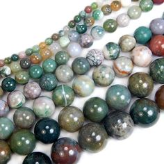 15-Natural-India-Agate-Gemstone-Round-Beads-4mm-6mm-8mm-10mm-12mm-14mm-16mm