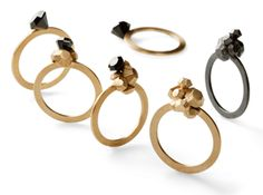 ANNETTE DICKOW-DK Munck  stone by stone rings-14k gold,silver,oxised silver