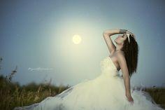 Unimaginable by Nikki Harrison on Portrait Inspiration, Style Inspiration, One Shoulder Wedding Dress, Beautiful Women, Wedding Dresses, Photography, Amber, Moon, Photos