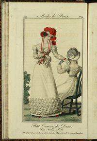 Petit Courrier des Dames : annonces des modes, des nouveautés et des arts del 20 de Julio de 1822