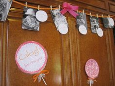 A photo timeline of the birthday girls first year! Great idea!