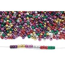 Metallic Pony Beads - 1 lb.