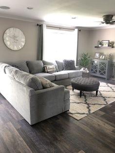 Home Design Living Room, Boho Living Room, Living Room Grey, Living Room Layouts, Classy Living Room, Living Room Themes, Living Room Goals, Family Room Design, Living Room Sets