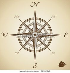 Vector compass. Height quality illustration. Old style.: