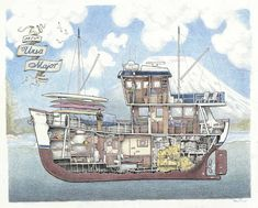 This is a cutaway of the Alaska adventure charter boat M