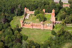 mazury zachodnie Zamek w Szymbarku koło Iławy.