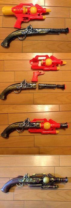 This is so beautiful. I might need to splice some guns. I think I have one of those old pirate water guns somewhere.