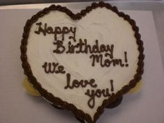 Heart shaped cake for Mom!!