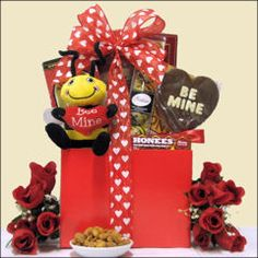 Bee Mine: Valentine's Day Gift Basket for Teen or Young Adult