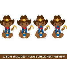 Vector Clipart, Eps Vector, Vector File, Clipart Baby, Little Cowboy, Cowboy Baby, Afro, Western Parties, Take Me Up