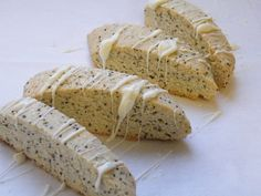 Lemon Poppy seed Biscotti cookies