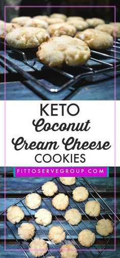 Keto cream cheese cookies for when it needs to be grain-free, nut-free, egg-free, sugar-free and keto friendly. These keto cream cheese cook. Biscuits Keto, Cookies Et Biscuits, Keto Pancakes, Keto Cookies, Chip Cookies, Coconut Flour Cookies, Biscoff Cookies, Cookies Soft, Meringue Cookies