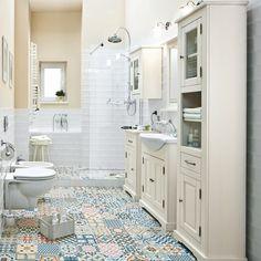 28 Carrelage Salle De Bain Castorama sol 2019 Check more at www. Diy Bathroom Decor, Bathroom Layout, Bathroom Colors, Small Bathroom, Vintage Bathroom Floor, Vintage Bathroom Vanities, Bedroom Floor Tiles, Bathroom Flooring, Douche Design