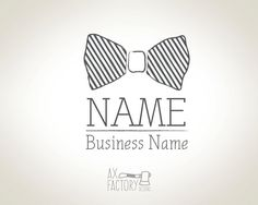 Custom Bow Tie logo  with Business Card  Fully by AXFactoryDesigns