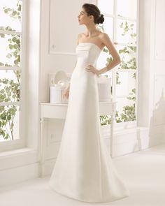 Armilla vestido de novia corte evasé