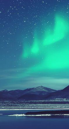 オーロラが綺麗な夜 iPhone5 スマホ壁紙 | WallpaperBox