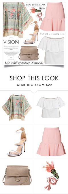 """""""Fact & Nonsense"""" by violet-peach ❤ liked on Polyvore featuring Topshop, Moschino Cheap & Chic and Chloé"""