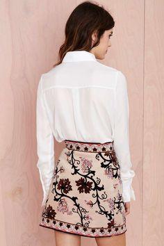 Vintage Emilio Pucci Escape Velvet Skirt