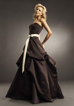 Strapless Floor-length European Matte Satin Bridesmaid Dress Style SB2070