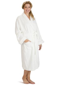 547dee21e6 Women s Resort   Spa Style Bamboo Terry Robe  Full Length with Rolled Cuffs  http