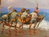 Cuadro pintado al óleo sobre lienzo, firmado N.Negro, med. 73x60 cm., tiene un precio especial de 450.- Euros enmarcado