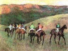 Caballos de carreras en un paisaje (Degas)