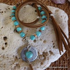 Turquoise Personal Power Necklace - handmade crystal energy gemstone jewellery Earth Jewel Creations Australia