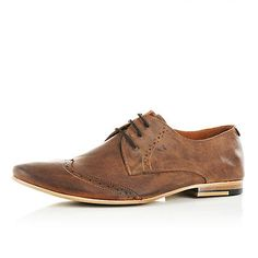 Brown low profile brogues - brogues / loafers - shoes / boots - men ($20-50) - Svpply