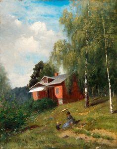 "pintoras: "" Maria Wiik (Finnish, 1853 - Summer idyll (via Bukowskis) "" Helene Schjerfbeck, Chur, Classic Paintings, Paintings I Love, Female Painters, Russian Painting, Art For Art Sake, Art Music, Home Art"