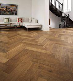 £42 Richmond Engineered Herringbone Click Parquet Oak 148mm x 15mm Fumed Oiled Wood Flooring