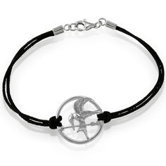 """Sterling Silver 7.5"""" The Hunger Games-inspired Mockingjay with Double-Strand Cord Bracelet Beaux Bijoux,http://www.amazon.com/dp/B0085DDN8A/ref=cm_sw_r_pi_dp_Yb1Psb1719WMXZKD"""