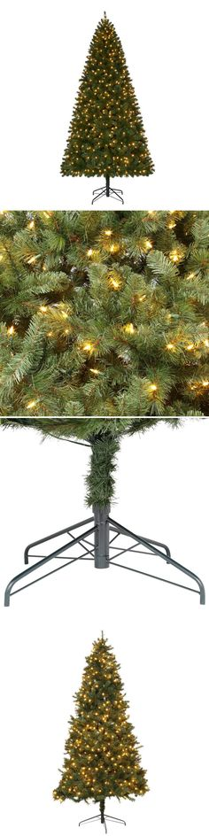 Artificial Christmas Trees 117414: 9 Ft. Pre-Lit Led Wesley Spruce Quick-Set Artificial Christmas Tree Warm White -> BUY IT NOW ONLY: $209.99 on eBay!