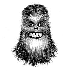 More happy smiles... #starwars #theforceawakens #hansolo #chewbacca #starwars #disney #blackandwhite #black #white #art #artist #JuanDoe #marvel by juan_doe
