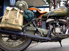 Story about a man that rode across the country on a motorcycle packing nothing but a toothbrush.