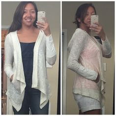 Comfy casual! Light enough for a breezy summer night. Olivina Hooded Slub Knit Cardigan by Skies Are Blue