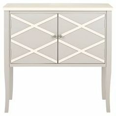 Poplar wood sideboard with a diamond motif.   Product: SideboardConstruction Material: PoplarColor: Grey and whiteDimensions: 34 H x 34.2 W x 14.9 D