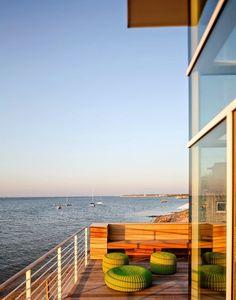 Diseño de Interiores & Arquitectura: Alta y Poderosa Casa de Playa de Richard Meier